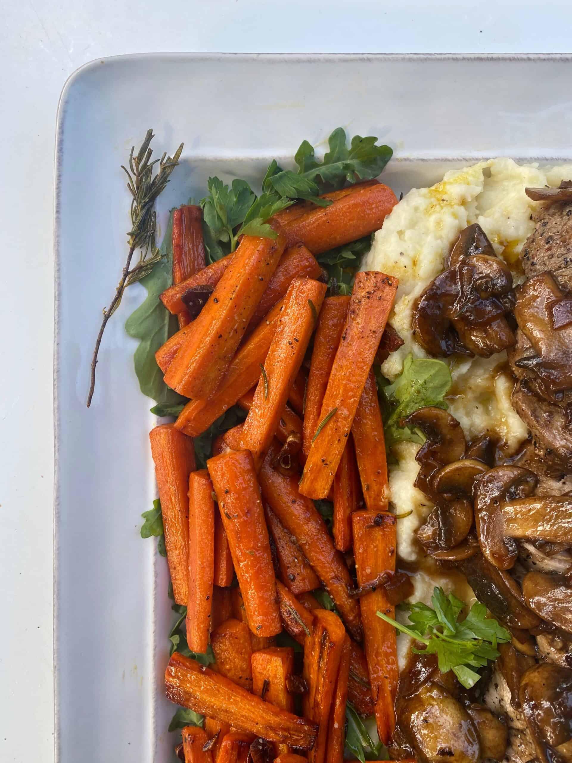 garlic rosemary carrots