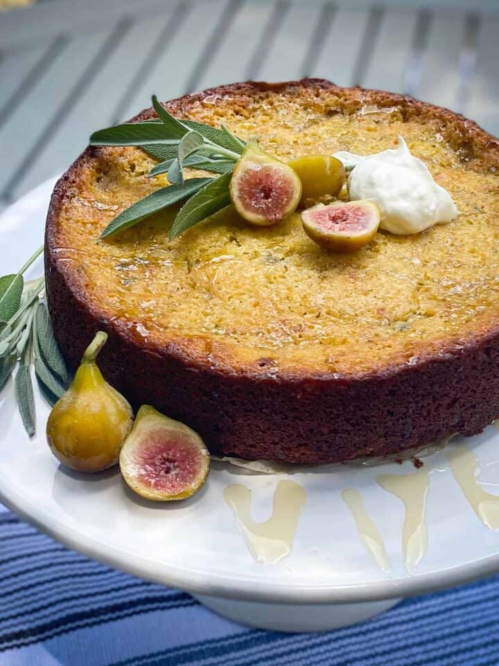 fig and sage olive oil cake