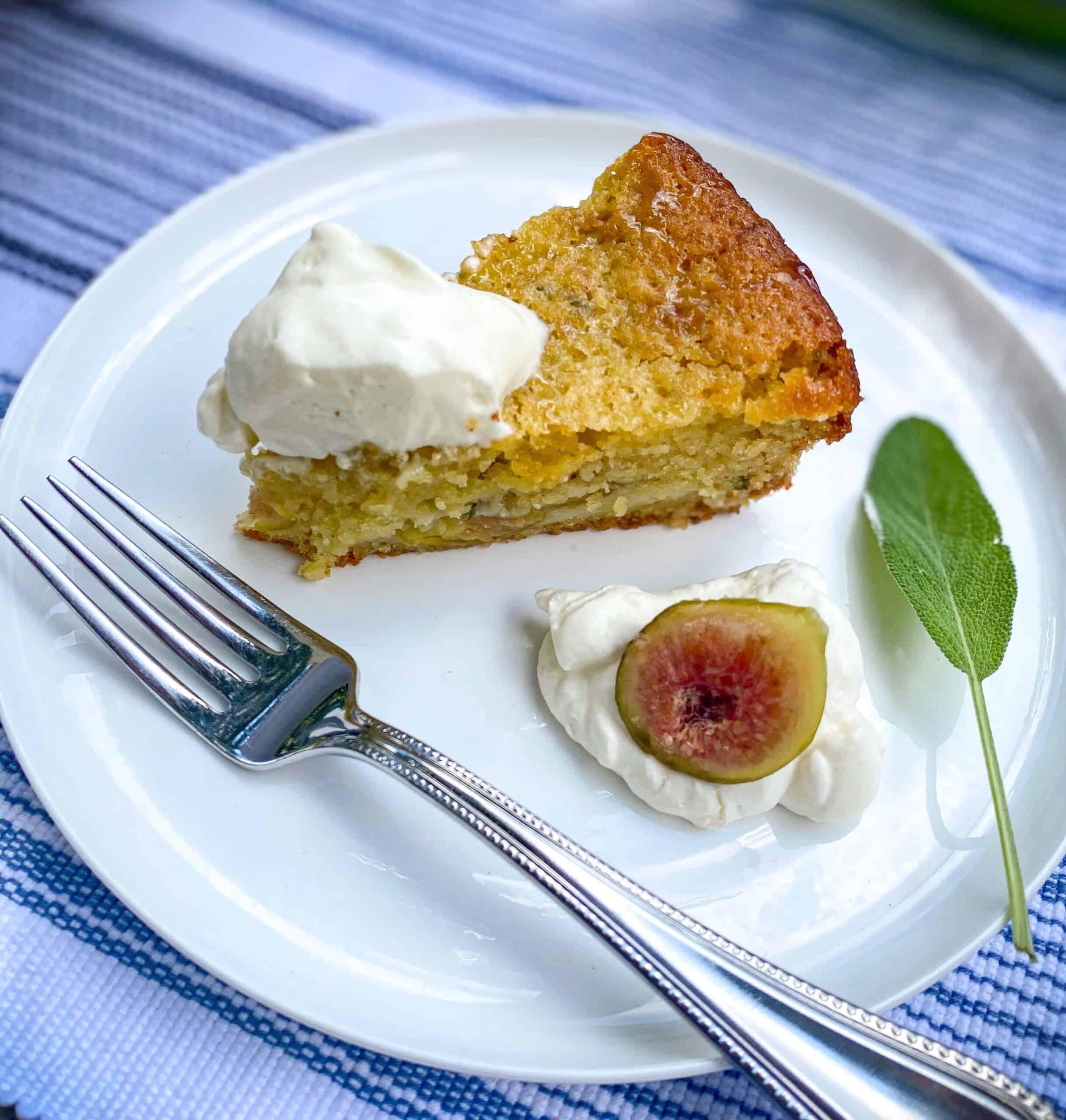 fig lemon sage olive oil cake