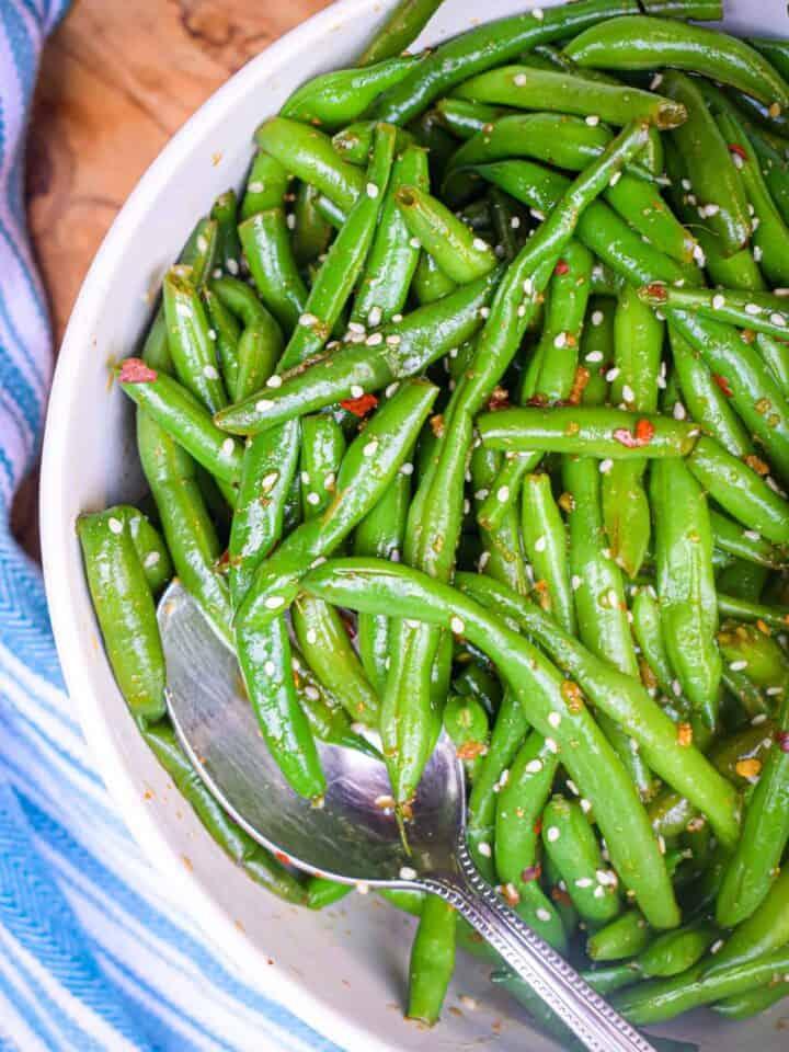 Asian green bean salad jam jar kitchen