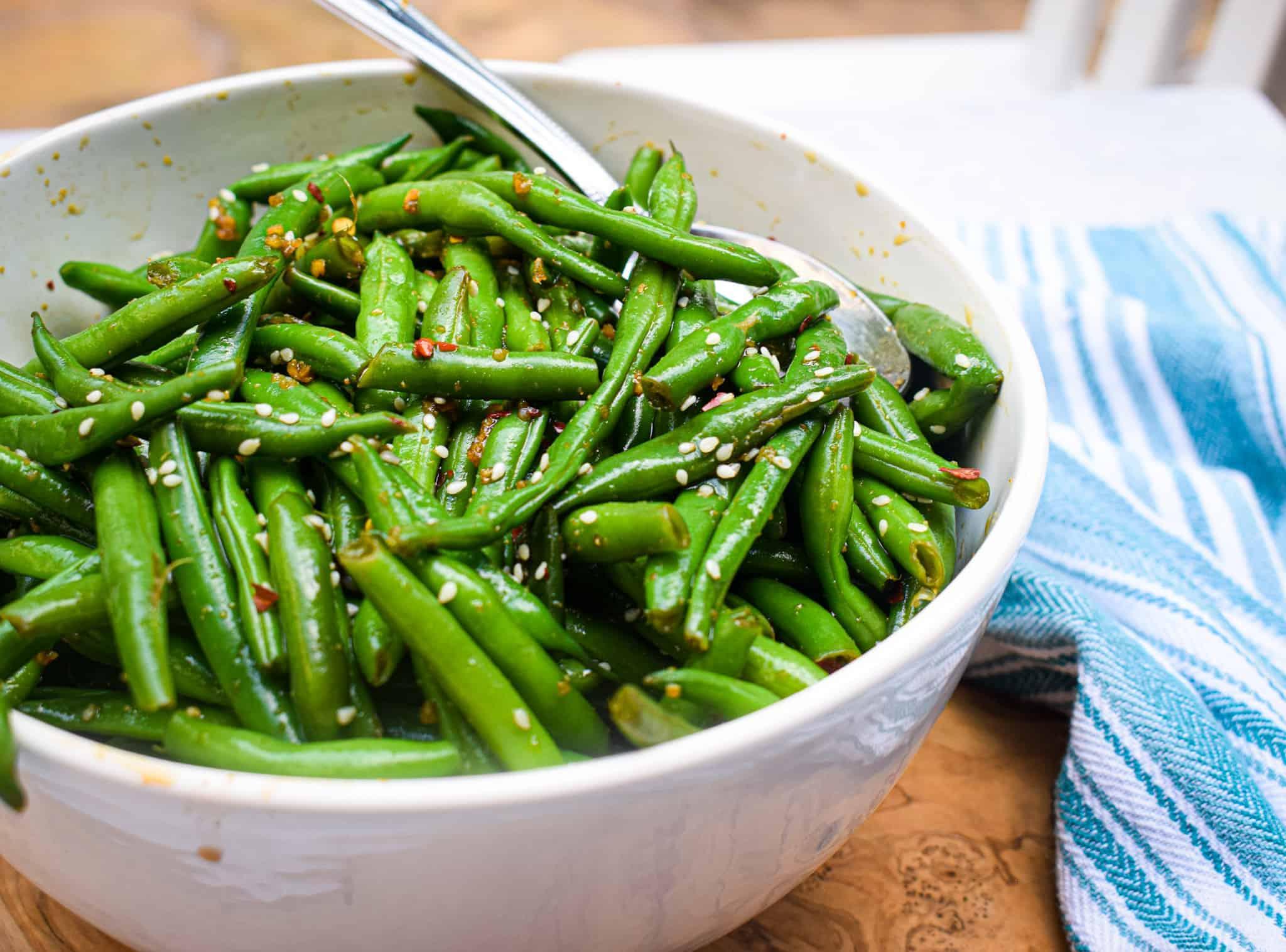 Asian Green bean Salad by The Jam Jar Kitchen