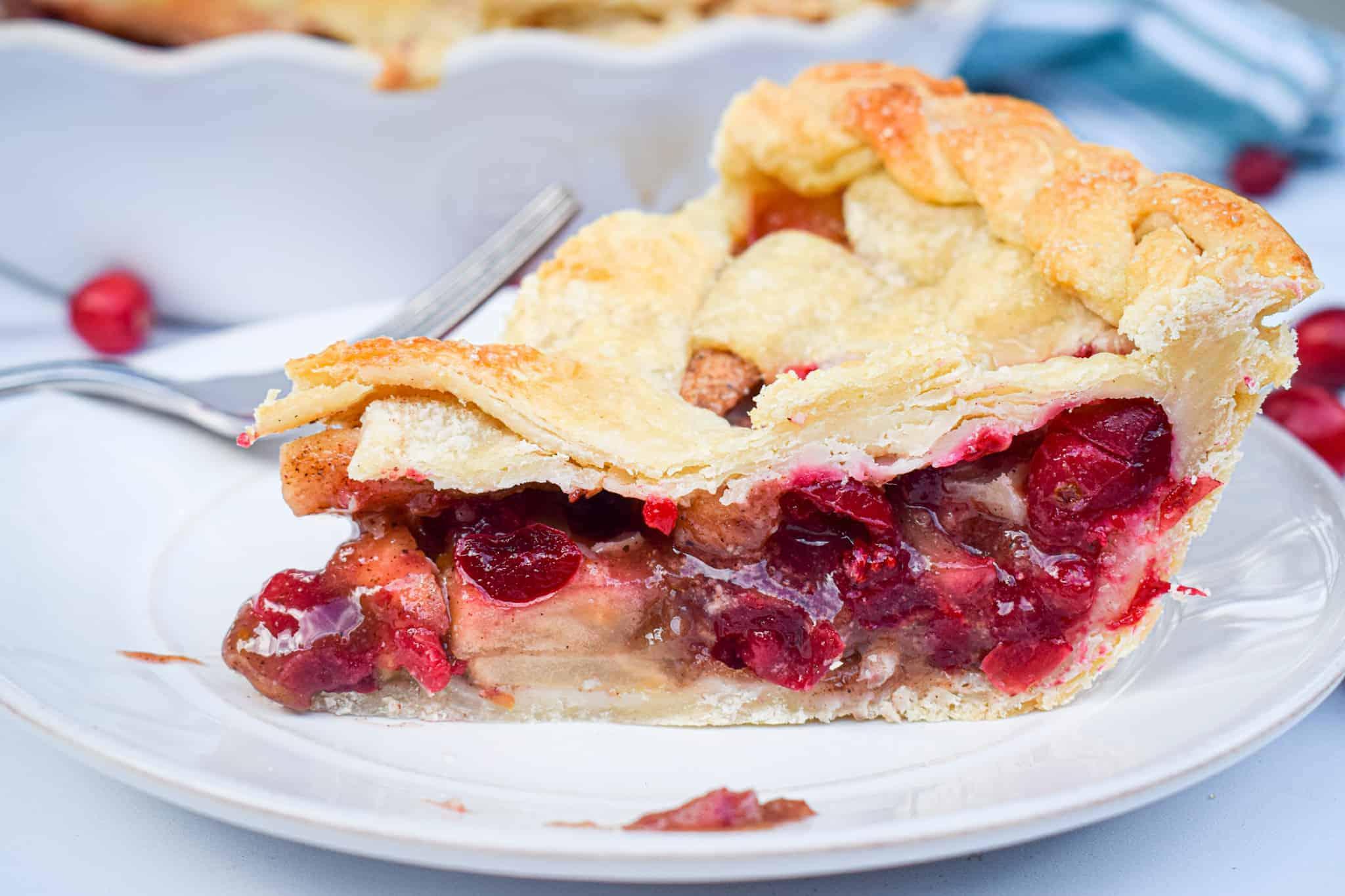 spiced apple cranberry pie