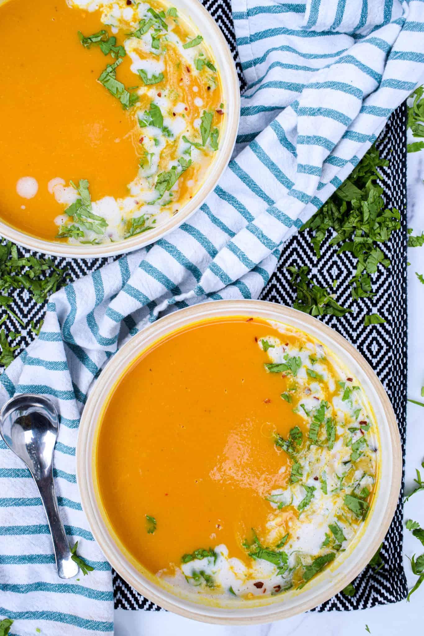 vegan curried butternut squash soup