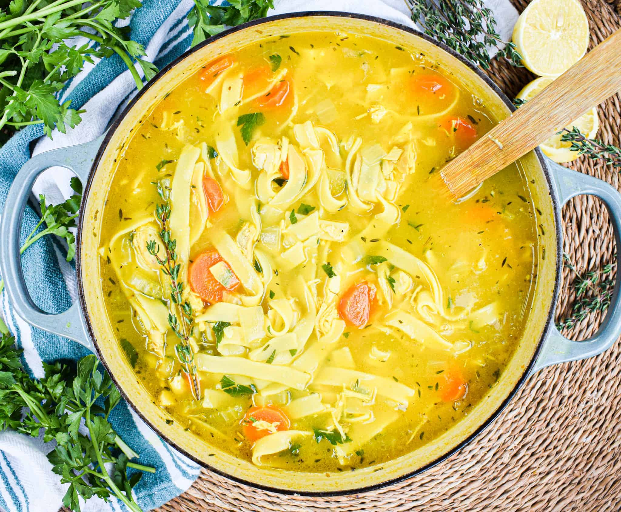 healing chicken noodle soup by the jam jar kitchen