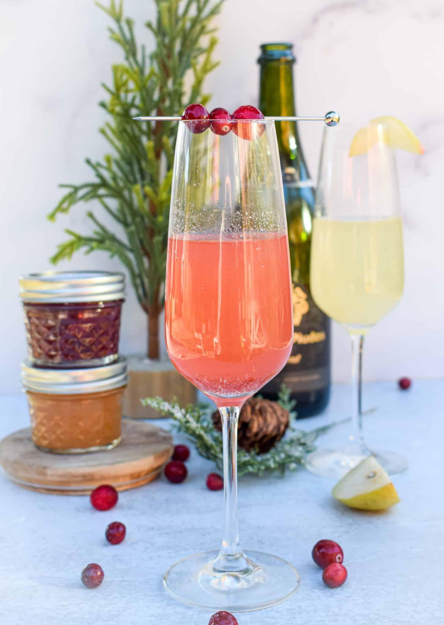 jam preserves french 75 cocktail