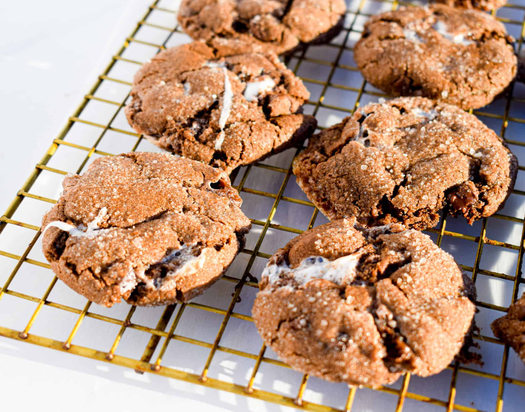 Mexican hot chocolate cookies by the jam jar cookies with marshmallows and chocolate chips