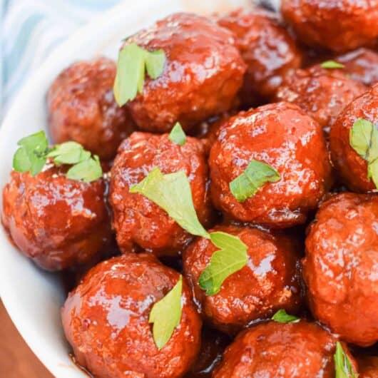 Cranberry Bourbon Meatballs