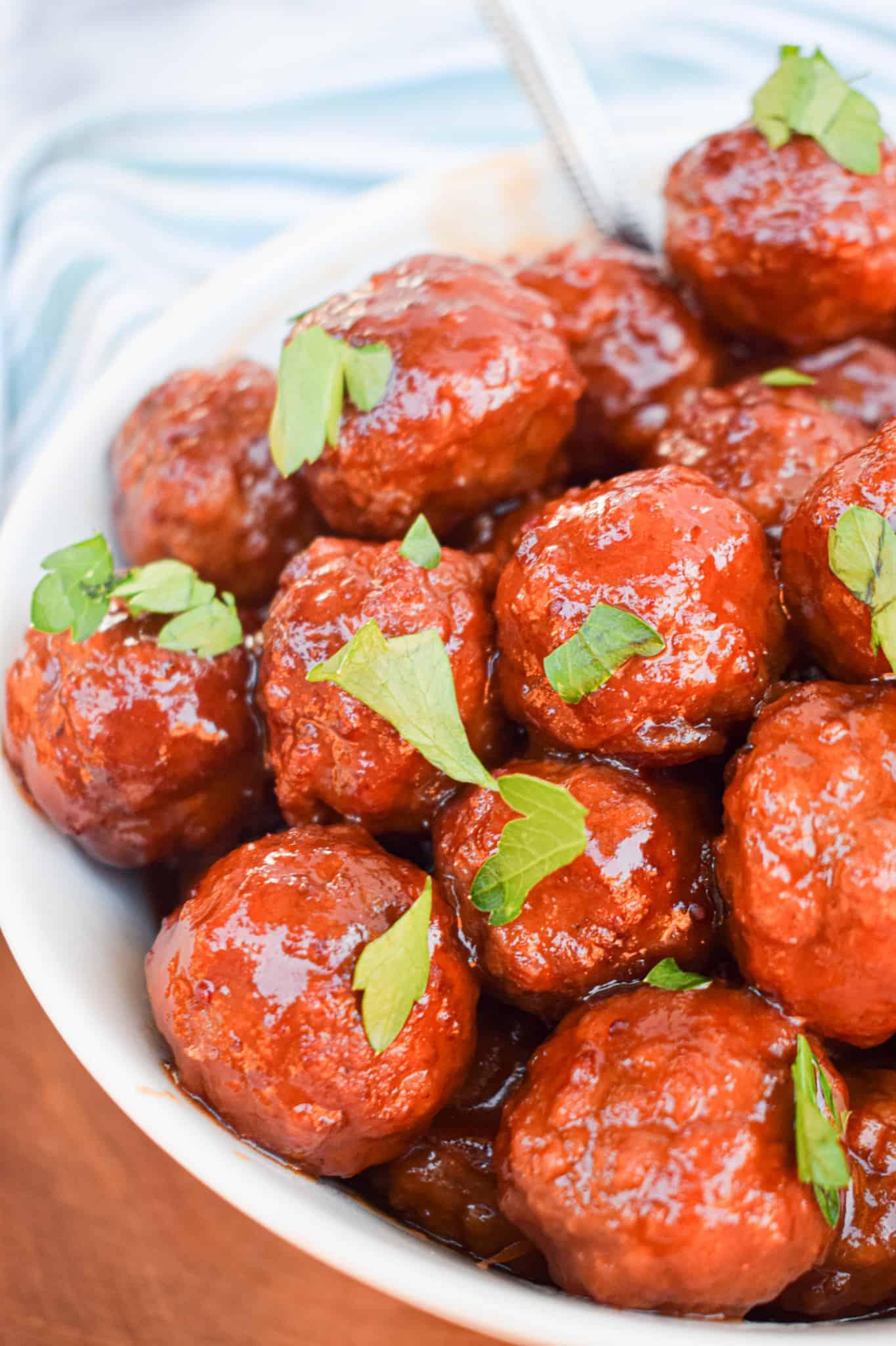 cranberry bourbon meatballs christmas appetizer