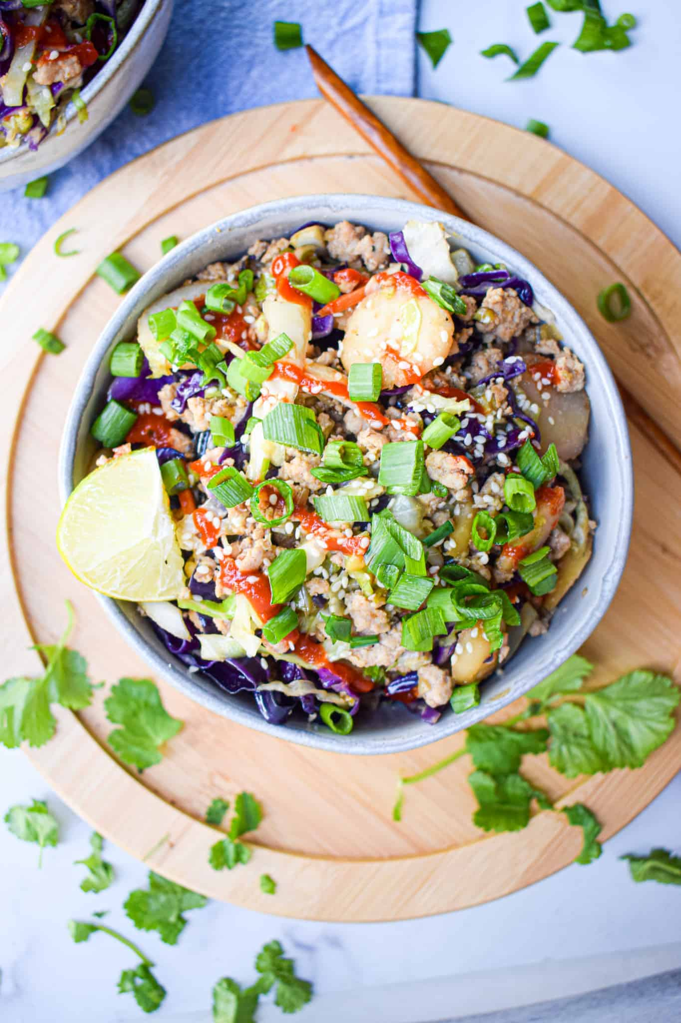 Whole30 Paleo egg roll in a bowl recipe low carb