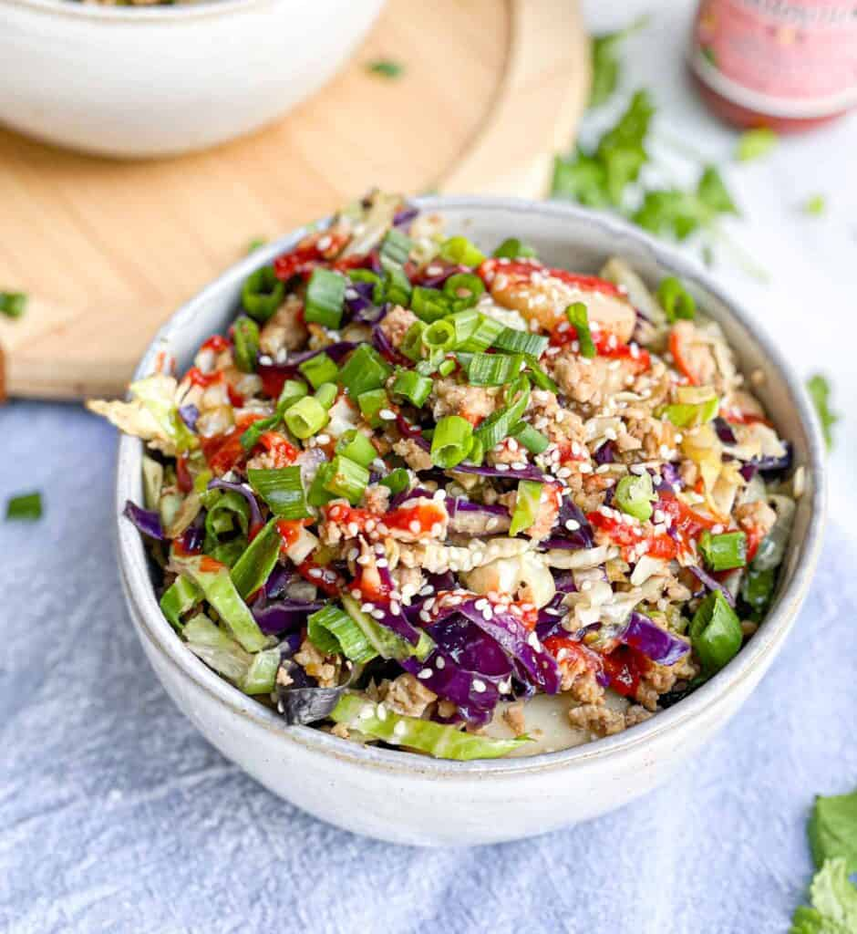 Paleo Egg Roll in a bowl Whole30 Low Carb 2b Mindset recipe