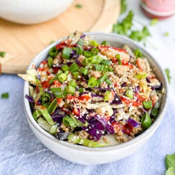 Whole30 Paleo egg roll in a bowl