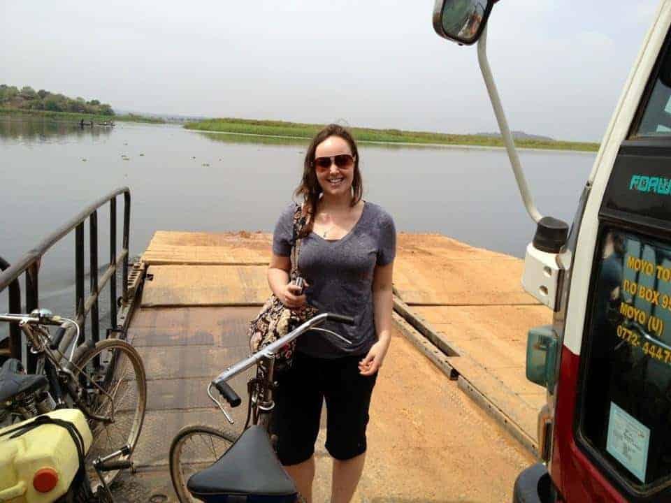 Crossing the Nile in Uganda