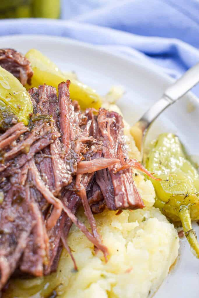 Whole30 Mississippi Pot Roast Slow Cooker Recipe by the Jam Jar Kitchen