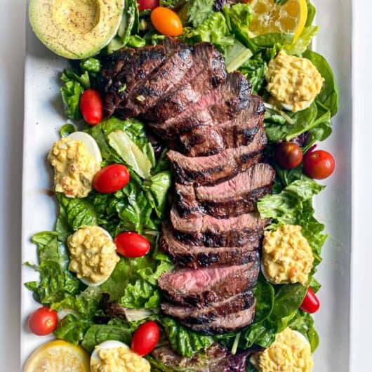 Steak Salad with Deviled Eggs