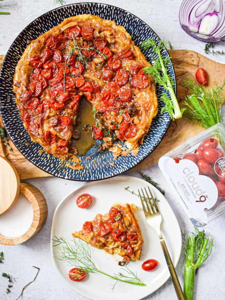 sweet tomato & fennel tarte tatin