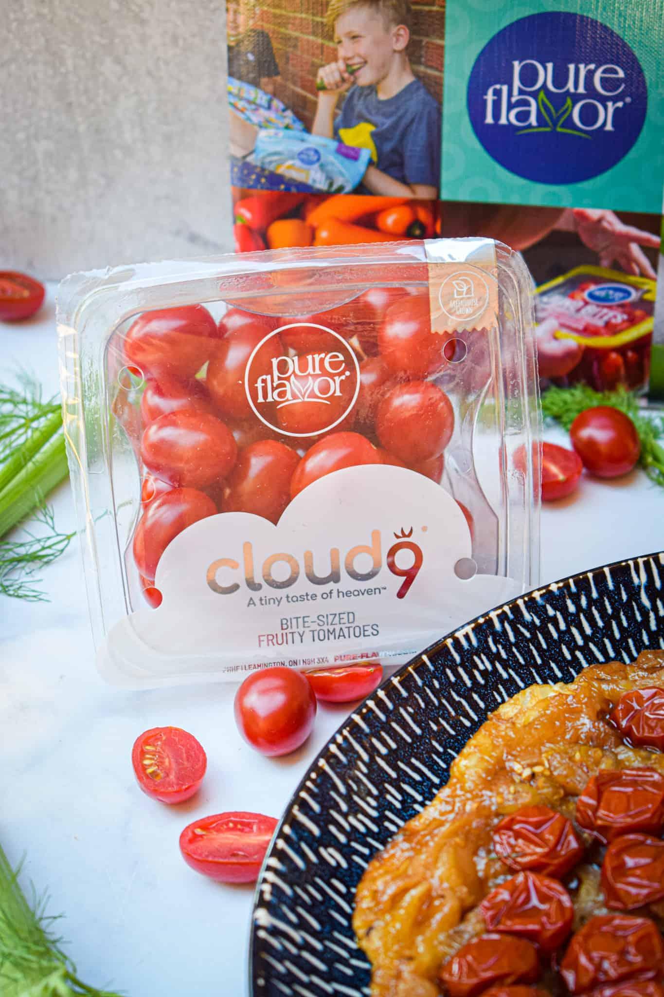 sweet tomato & fennel tarte tatin featuring cloud 9 fruity tomatoes
