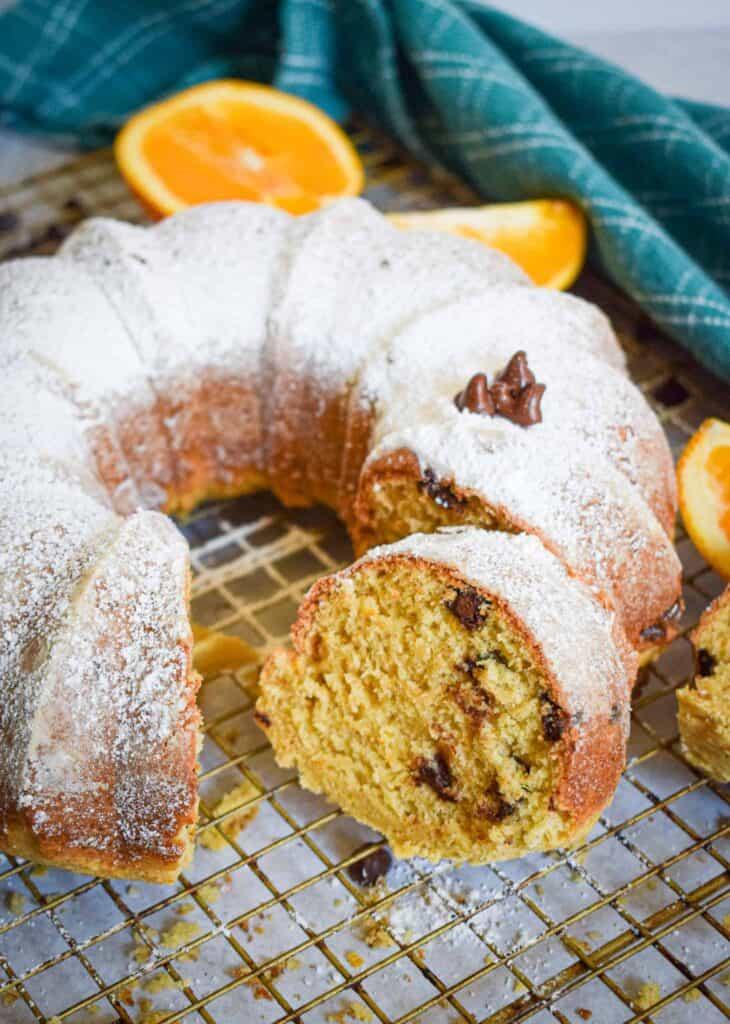 Orange & Chocolate Chip Ricotta Cake by The Jam Jar Kitchen