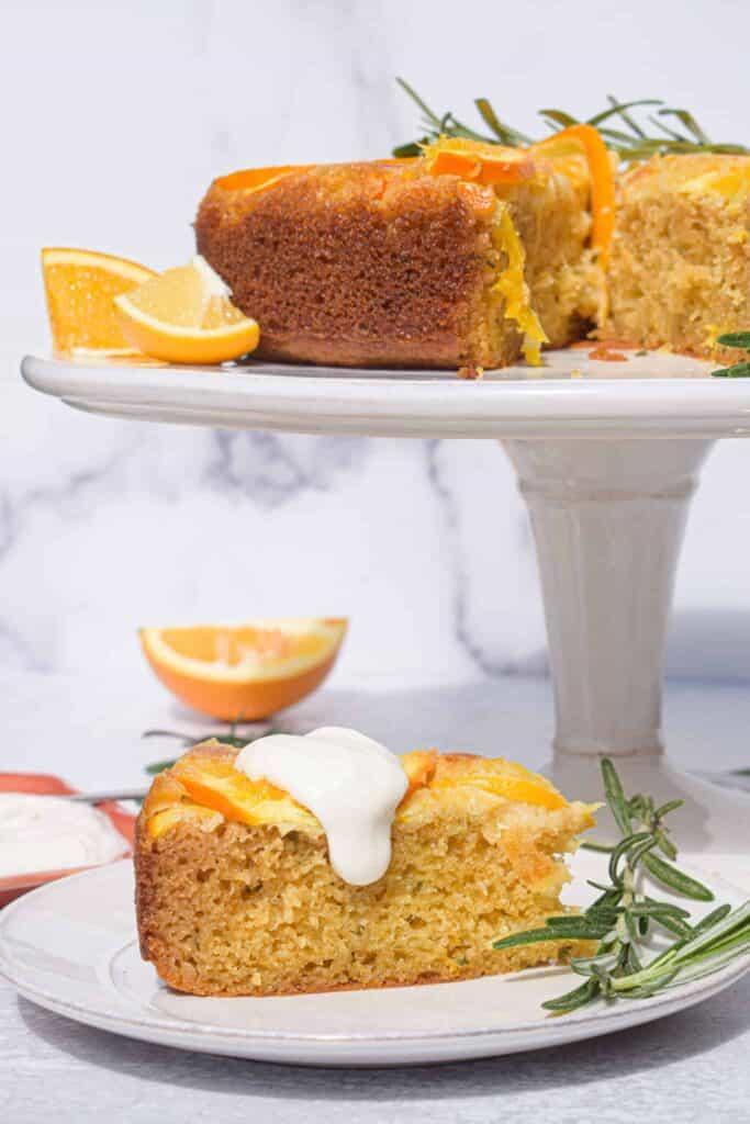 Meyer Lemon, Orange & Rosemary Olive Oil Cake