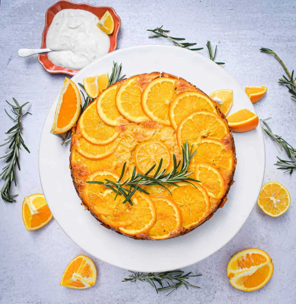 citrus and rosemary olive oil cake