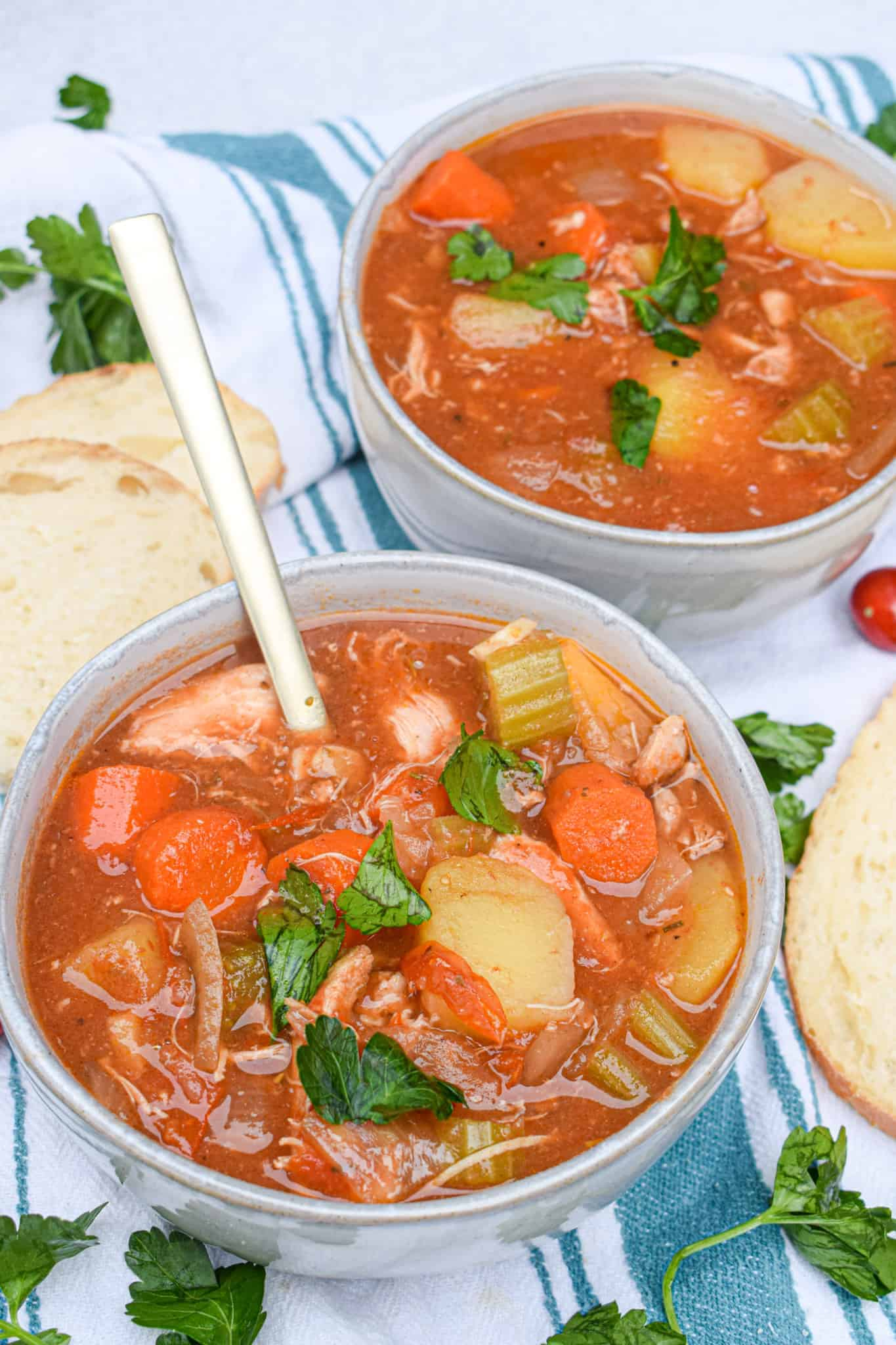 Whole30 slow cooker italian chicken stew
