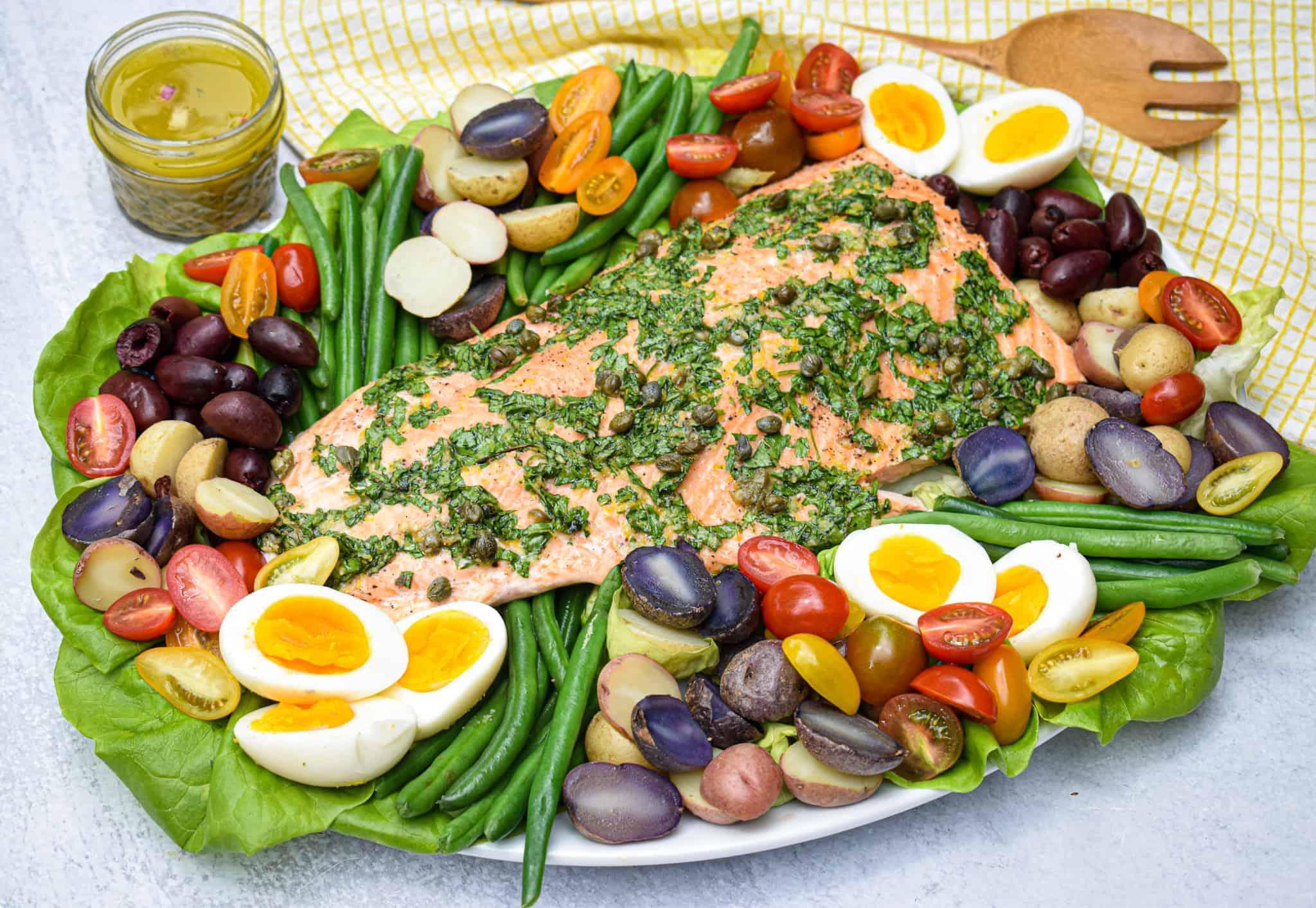 Whole30 Salmon Nicoise Salad by The Jam Jar Kitchen