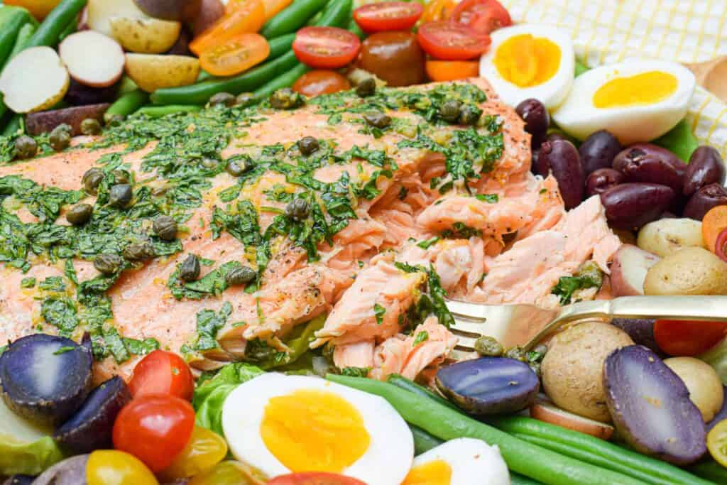 Whole30 Salmon Niçoise Salad by The Jam Jar Kitchen