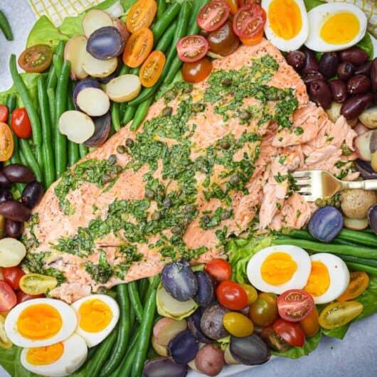 Whole30 Salmon Niçoise Salad