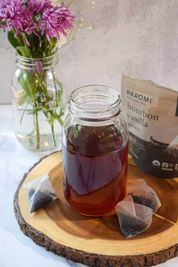 tea infused simple syrup by the jam jar kitchen