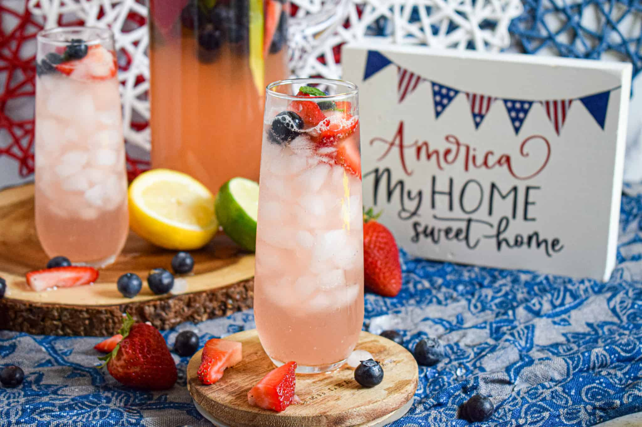 4th of july mocktail recipe red white and blue patriotic memorial day drink