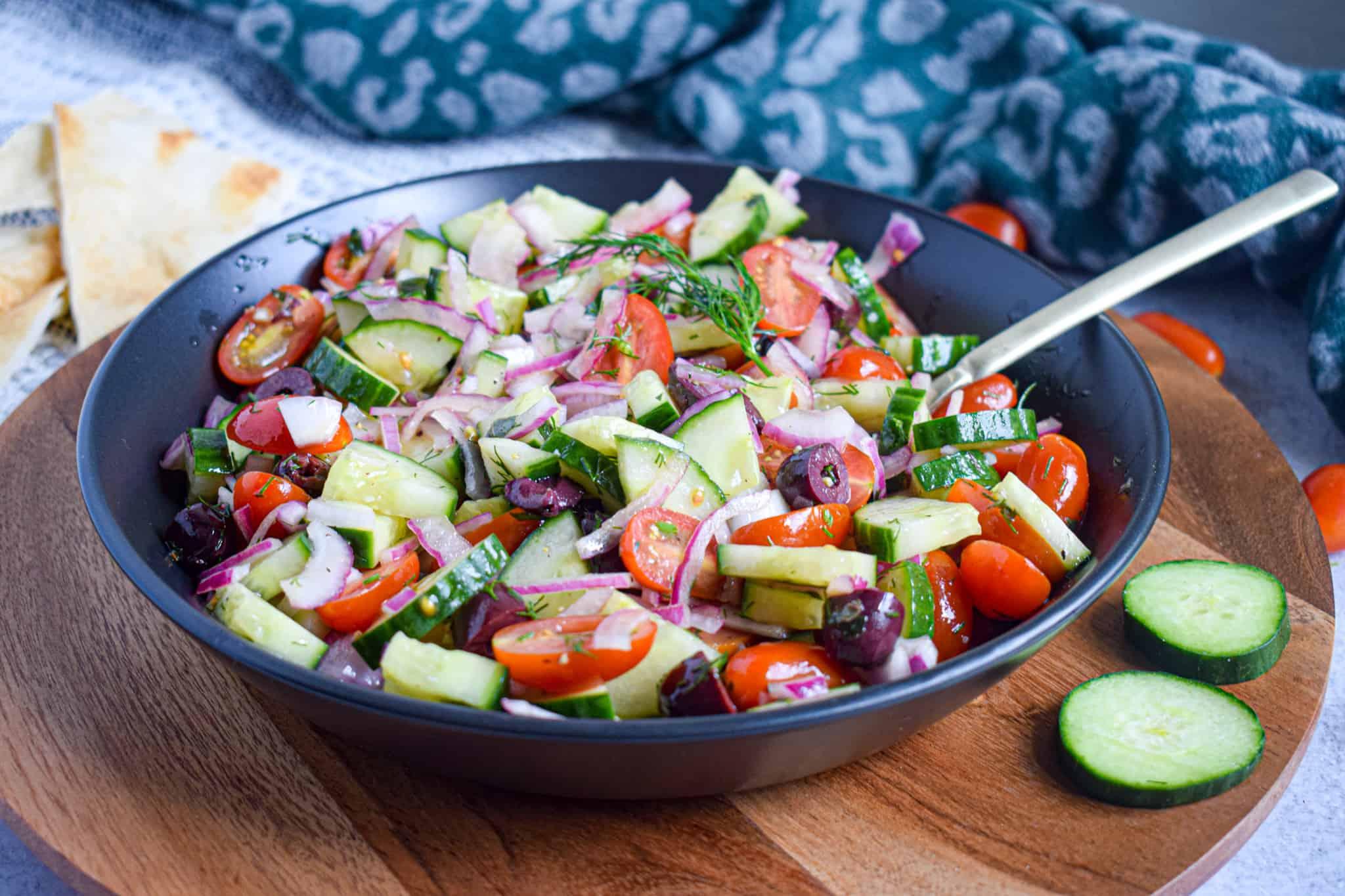 greek cucumber tomato salad is whole30 paleo keto 2B Mindset