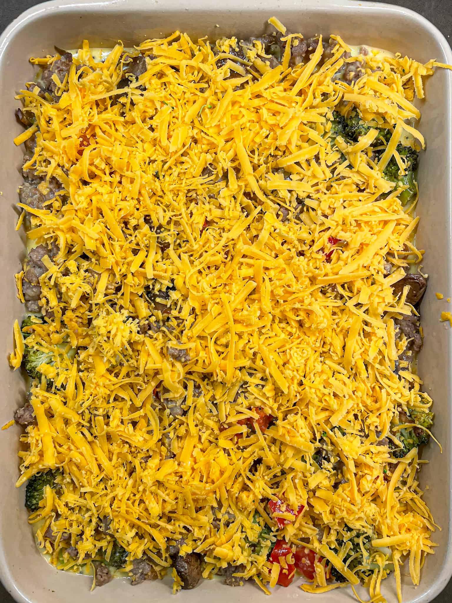 unbaked breakfast casserole