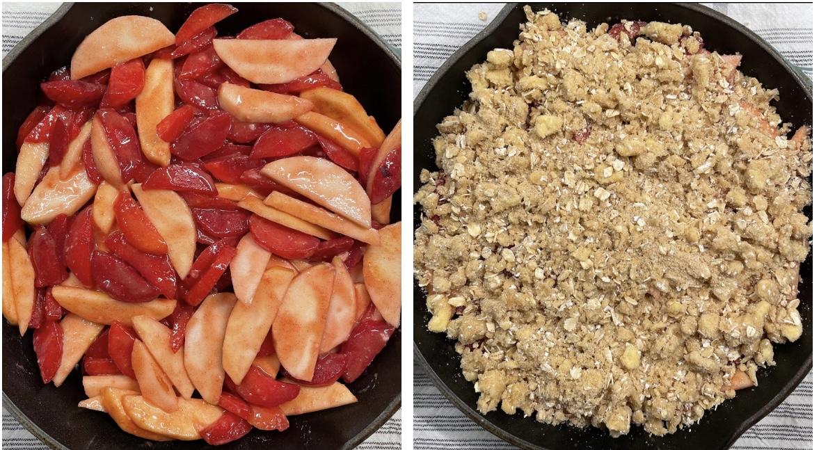 apple plum crumble recipe