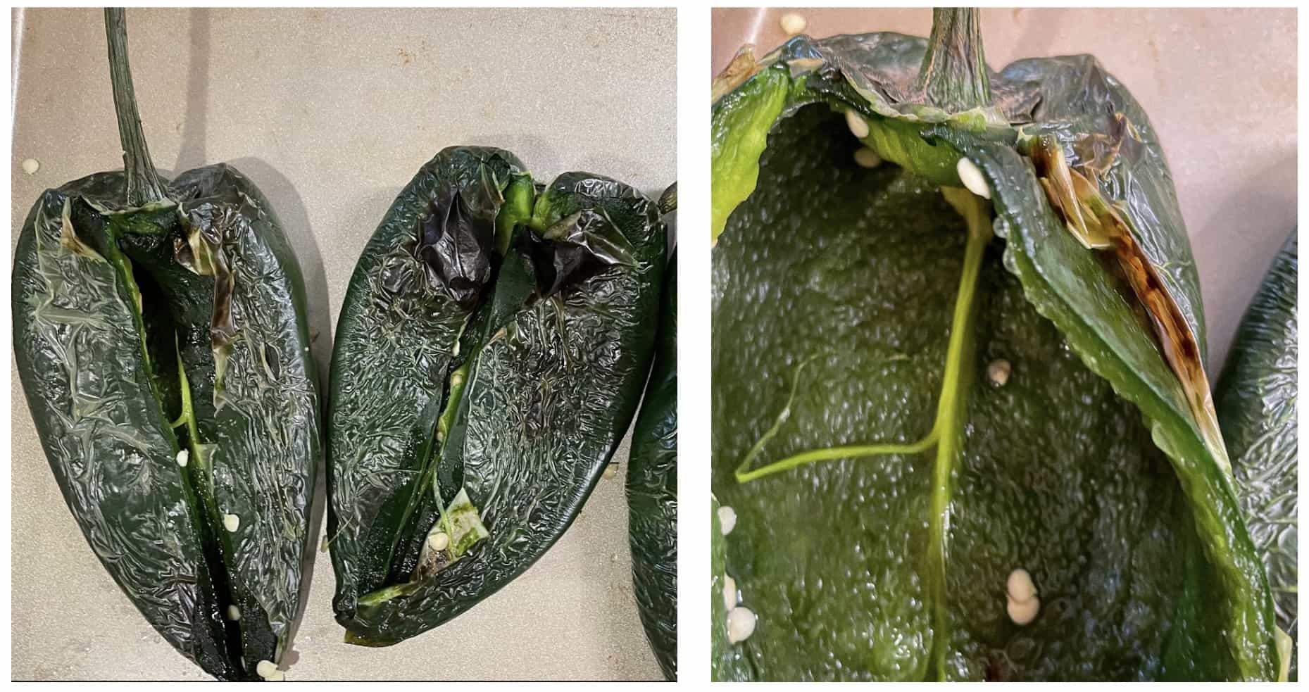 prepare the poblano peppers
