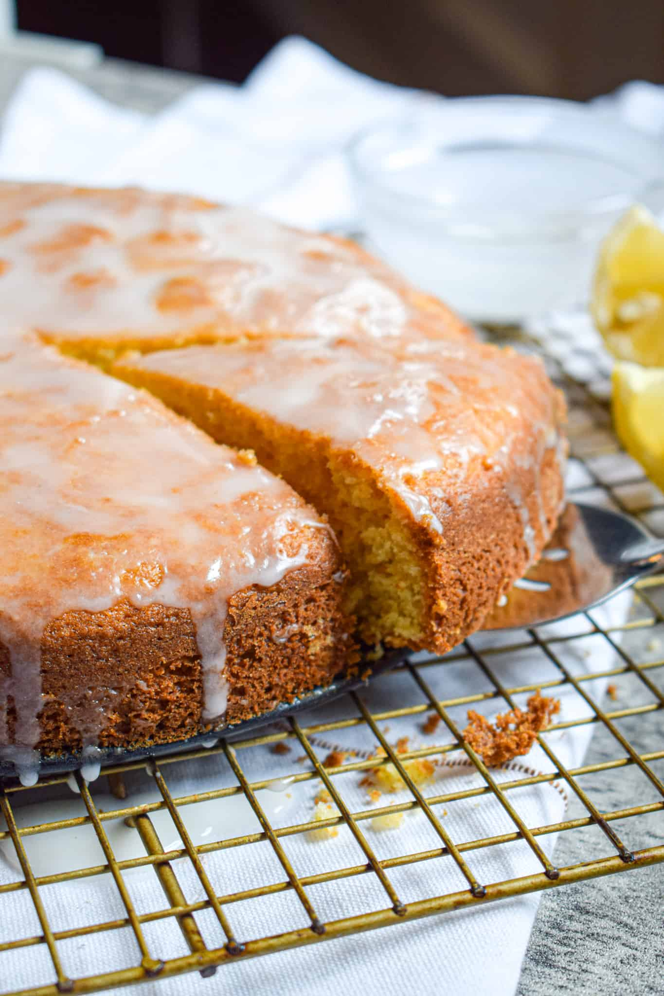 lemon cake with ricotta and olive oil