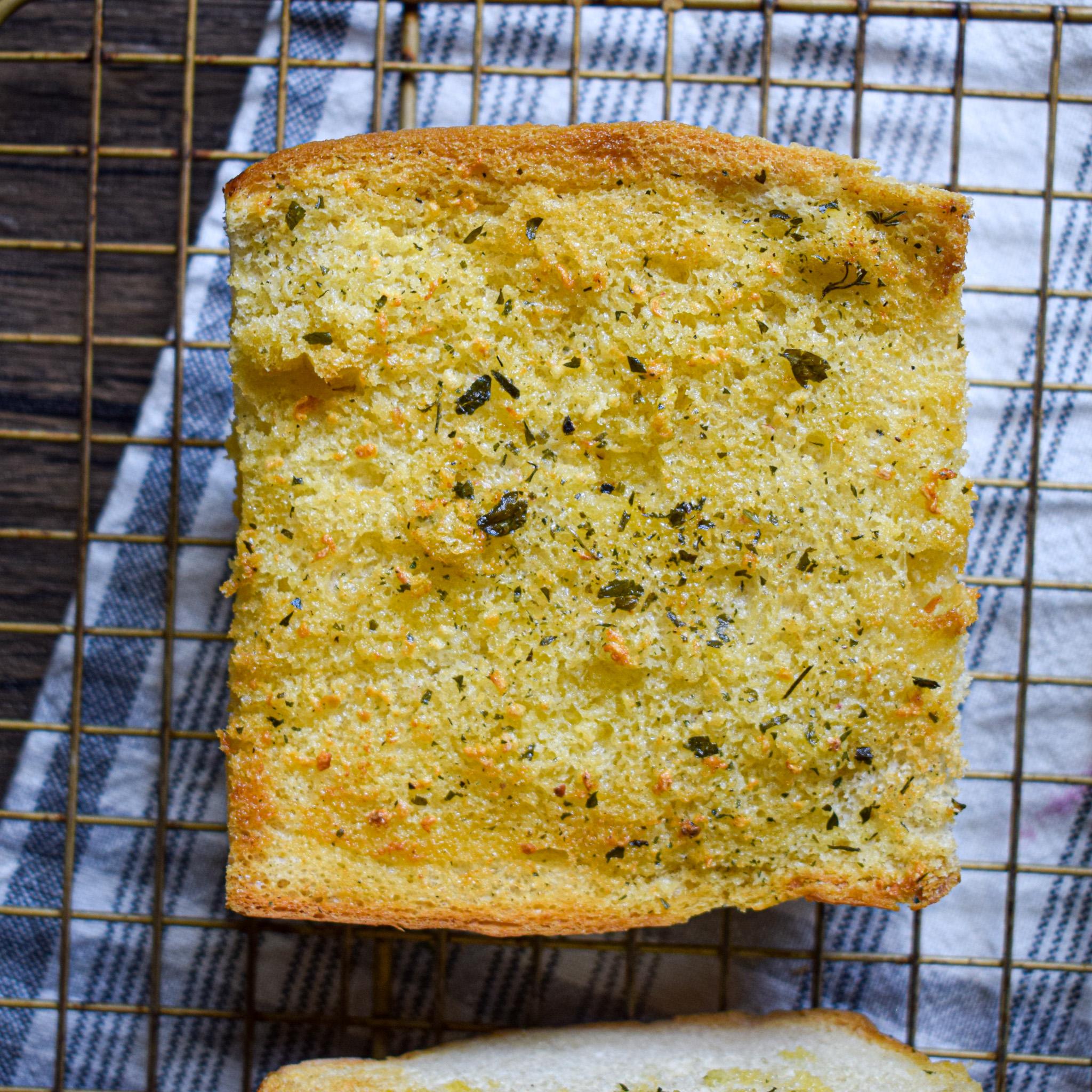 air fryer garlic butter bread