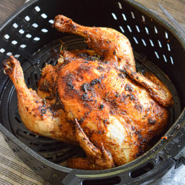 whole chicken in the air fryer