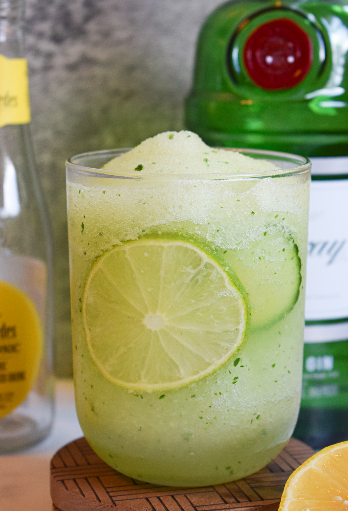 frozen Tanqueray gin and Fitch & Leedes tonic