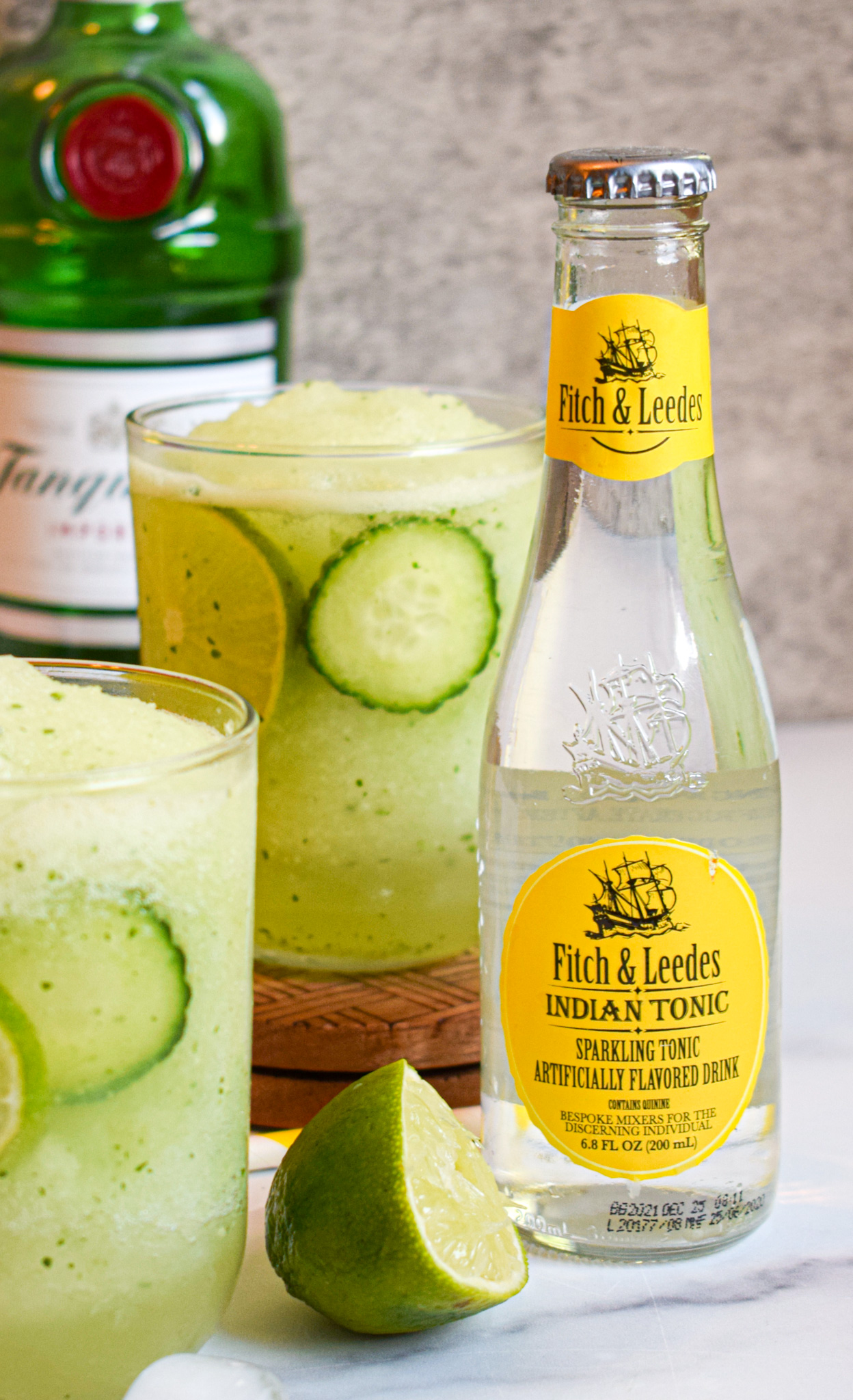 frozen gin and tonic recipe with fitch & leedes indian tonic