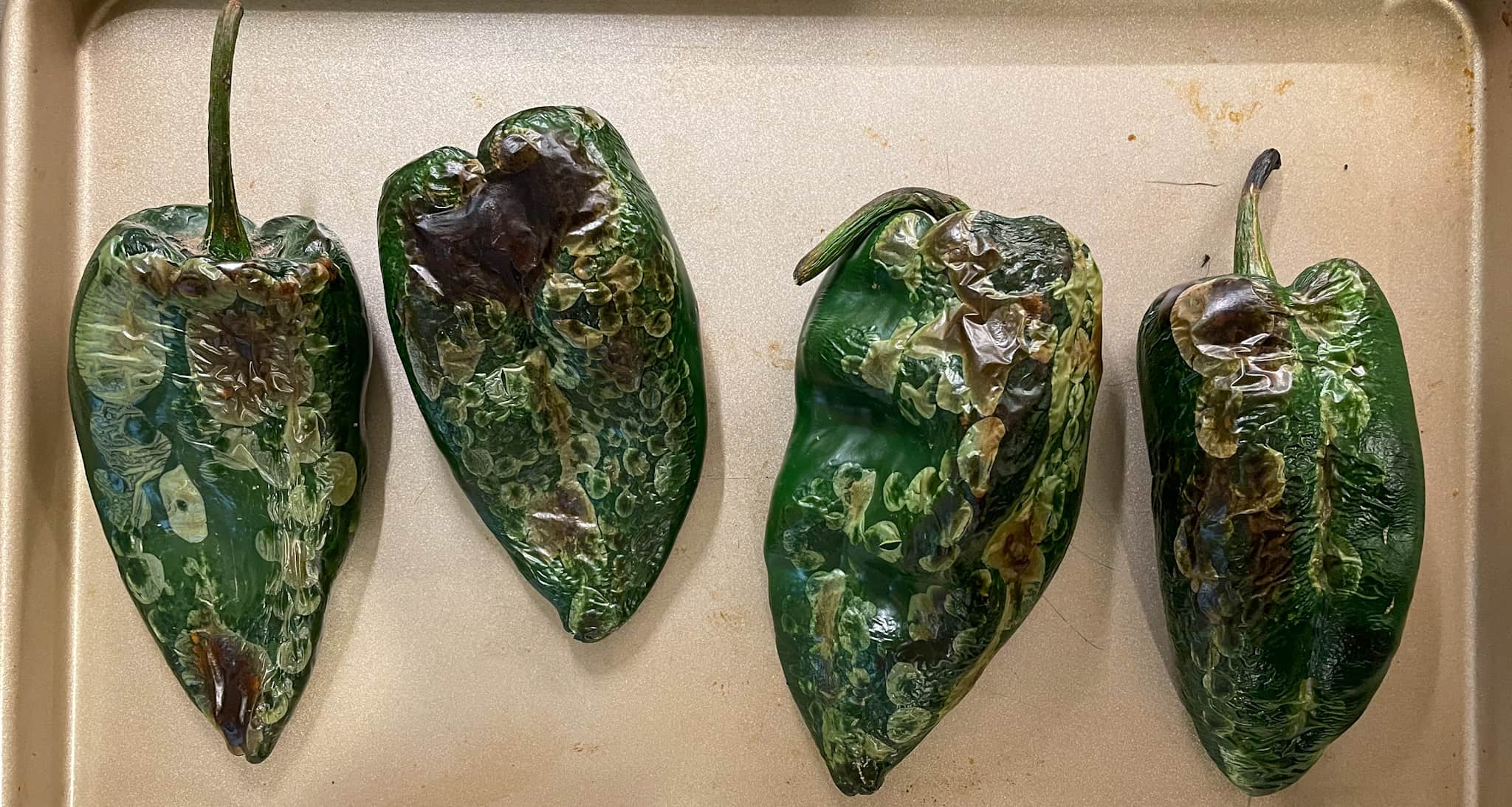 broiled poblano peppers