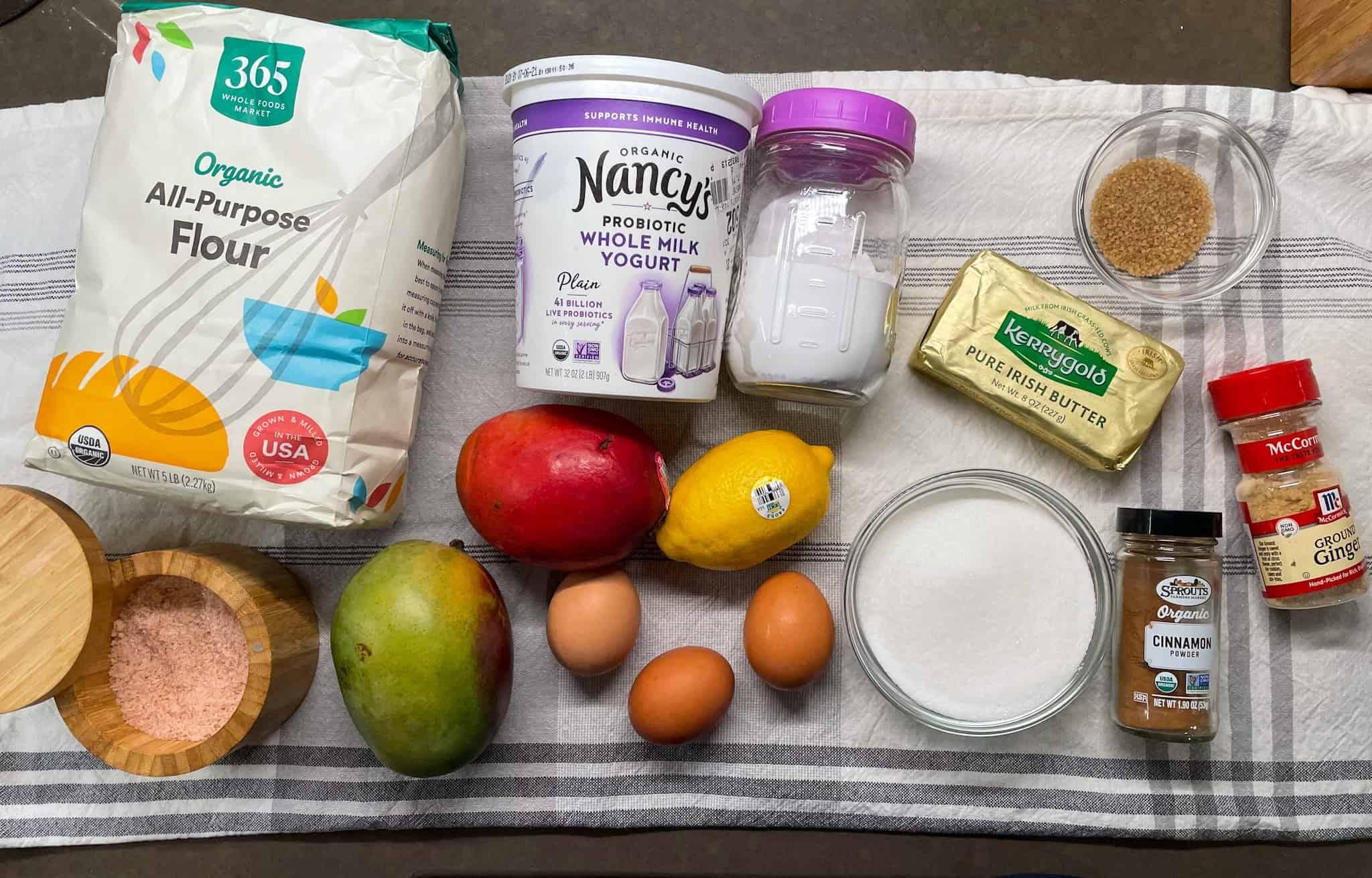mango bread ingredients