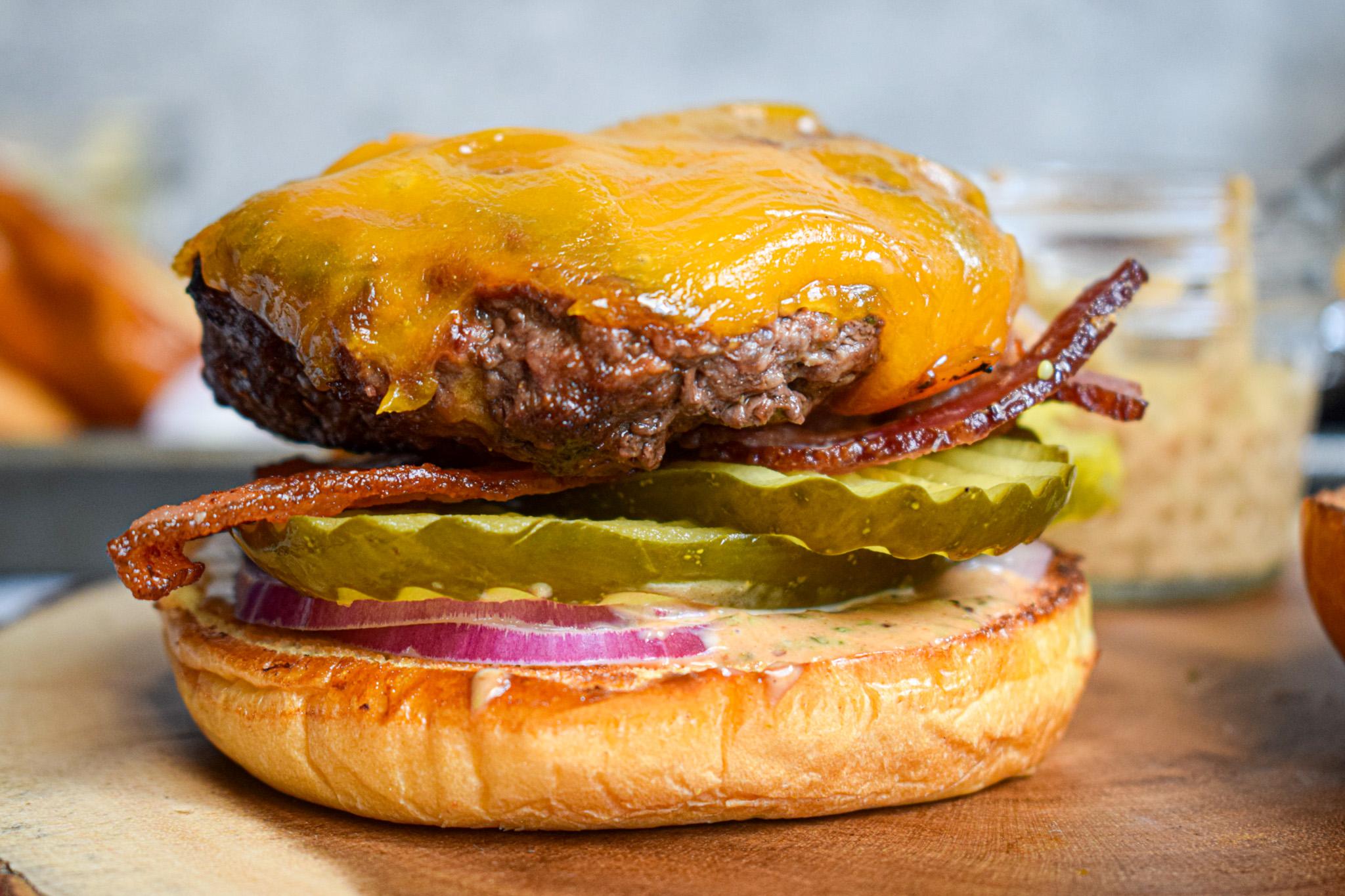 BBQ Ranch bacon cheeseburger