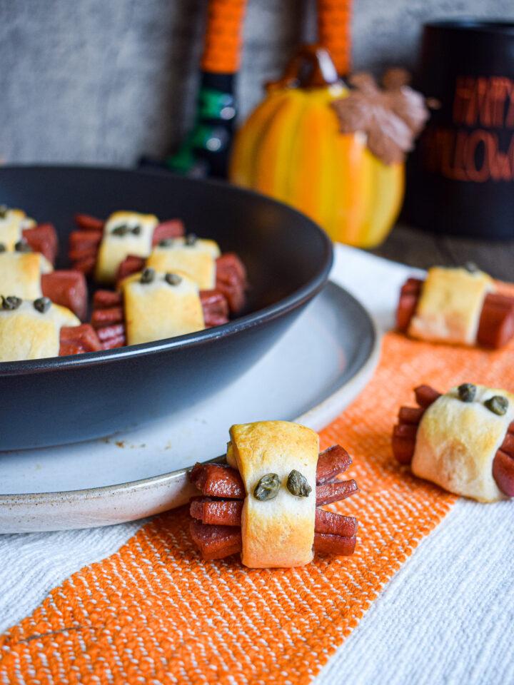 halloween hot dog spider recipe