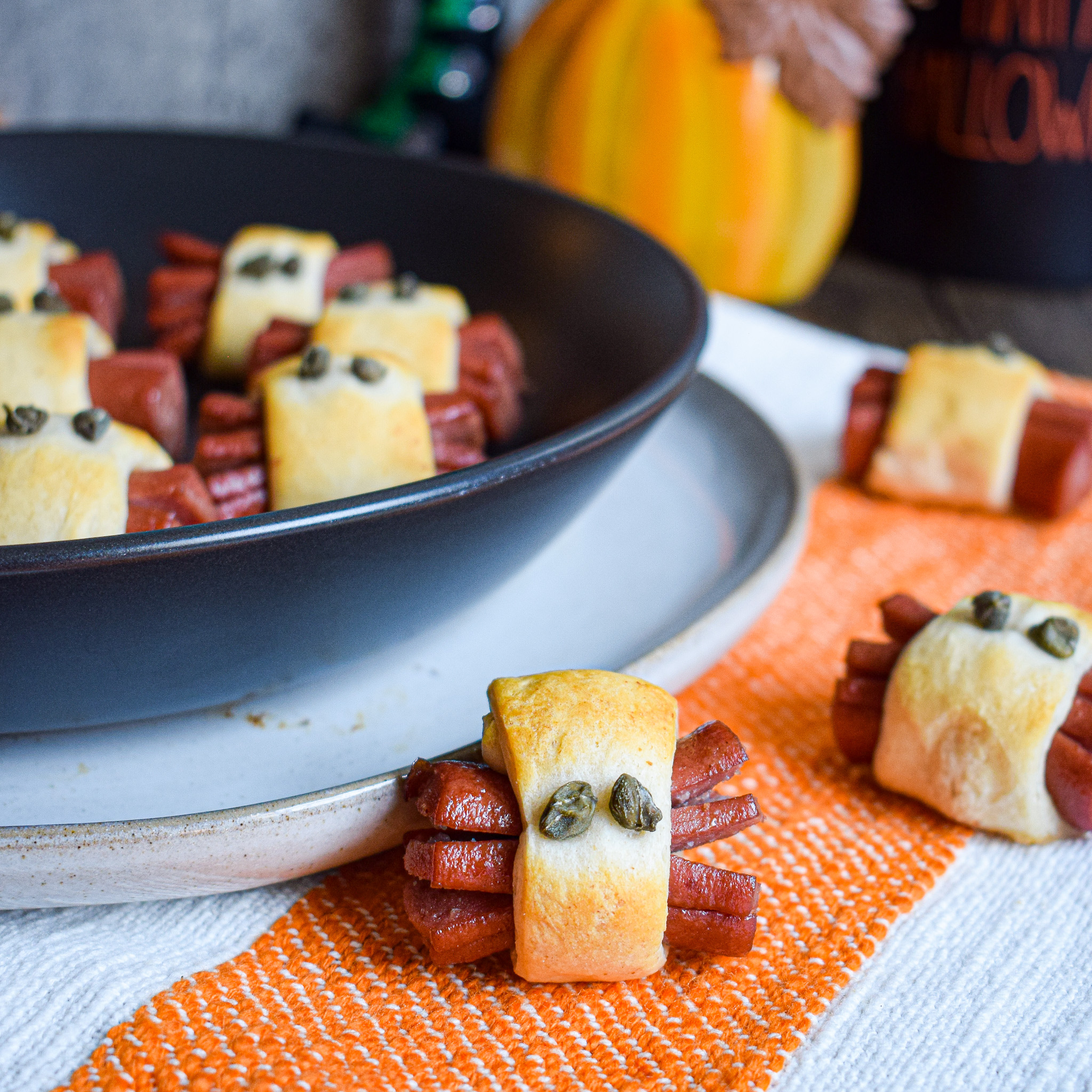 halloween snack recipe hot dog spiders