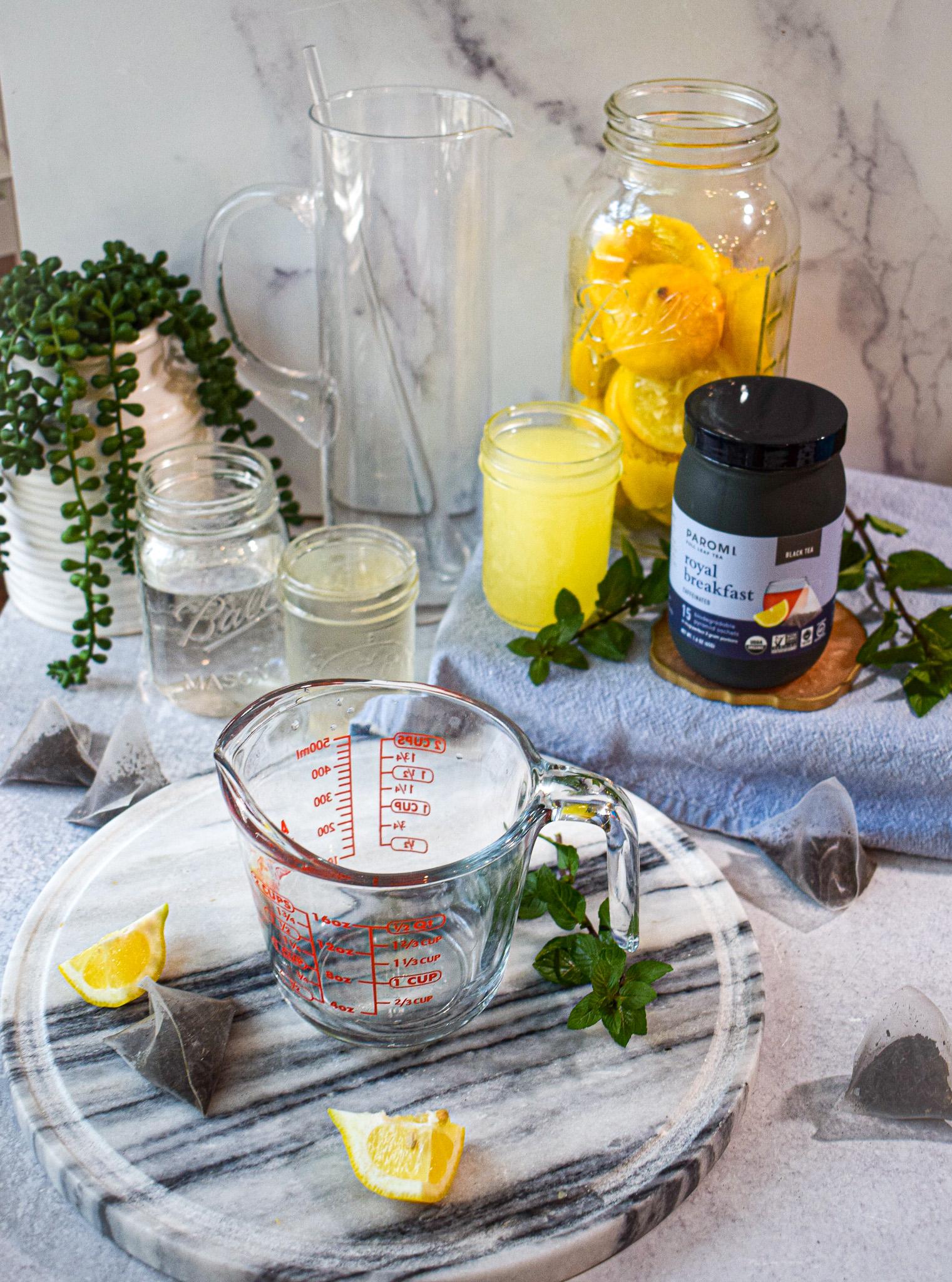 how to make homemade iced tea lemonade fresh