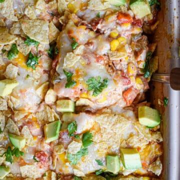 mexican chicken taco casserole