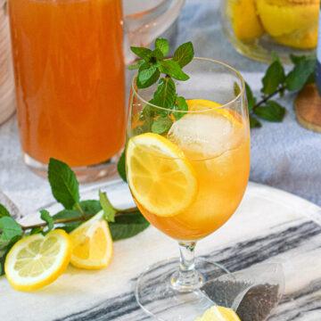 homemade iced tea lemonade