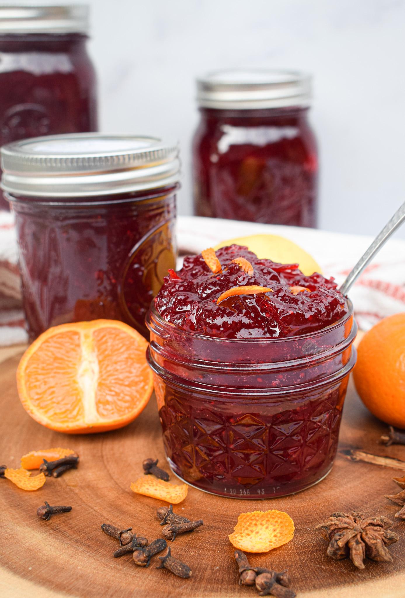 homemade cranberry jam sauce for canning no pectin