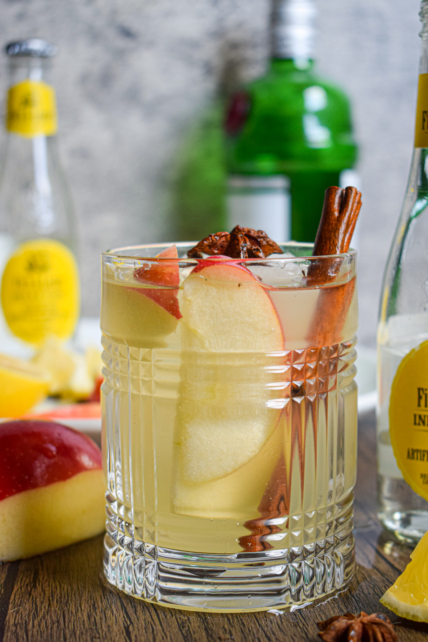 fall autumn gin and tonic cocktail