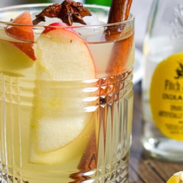 fall gin and tonic cocktail