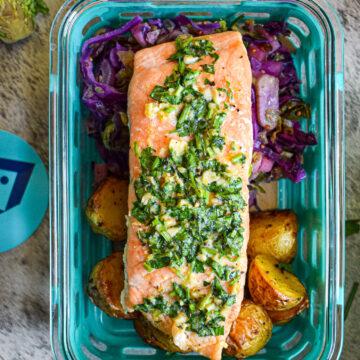roast salmon meal prep